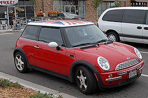 red Cooper Mini in Centennial