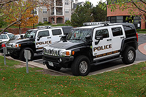 Police Hummers in Lone Tree