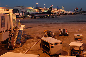 US Airways airlines at Charlotte airport