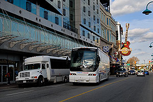 Piccadilly Place and Hard Rock Café on Main Street in Niagara Falls