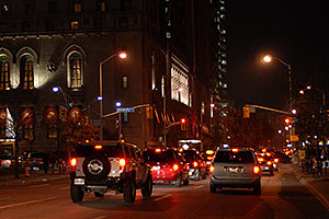 Night traffic in Toronto