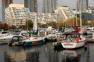 Obsession and Theresa sailboats in Toronto