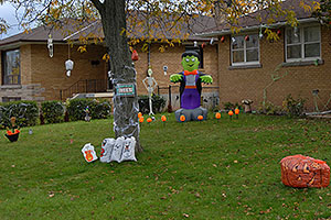 Halloween decorations in Oakville