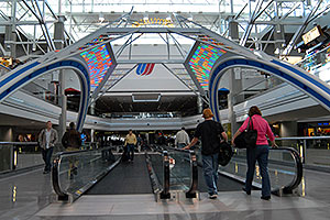 images of Concourse B at Denver airport