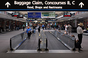images of Concourse A at Denver airport