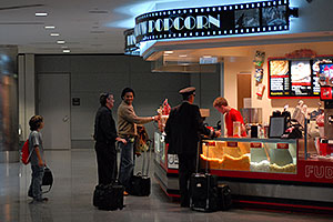 Popcorn store in Concourse A at Denver airport