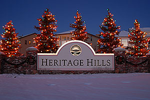 night at Heritage Hills in Lone Tree