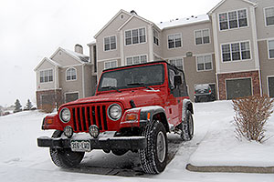 red Jeep Wrangler at Remington in Lone Tree