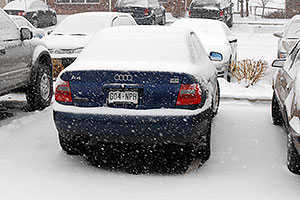blue Audi A4 at Remington in Lone Tree