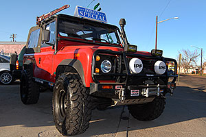 red Land Rover Defender 90 in Denver