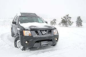 Xterra in a snowstorm in Englewood