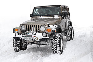brown Jeep Wrangler Rubicon