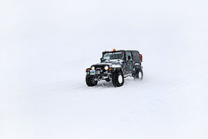 black Jeep Wrangler Search & Rescue