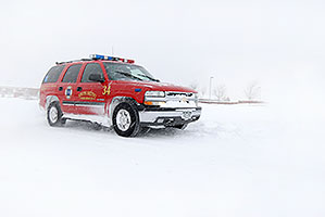 South Metro Fire Rescue red Tahoe truck - South Metro Fire Rescue #34