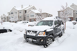 Xterra during a big snowstorm