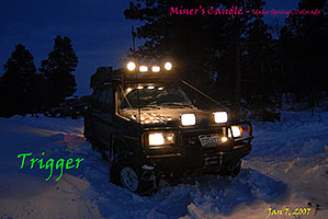 offroading in Trigger at Miner`s Candle