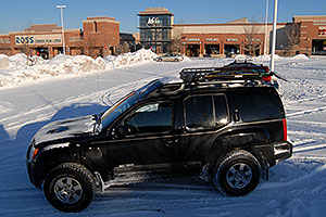 Xterra in front of REI #61 in Englewood, Colorado