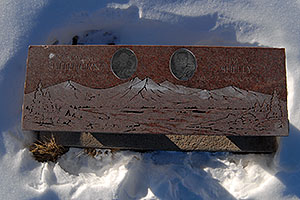 memorial bench at Mt Elbert Forebay