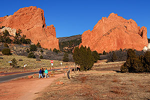 People near entrance to Garden of the Gods