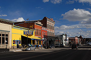 cars around Golden Burro Café in Leadville