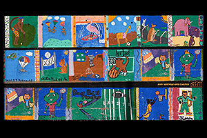 paintings by kids at Kiddie Korral in Leadville - 2003 Leadville Arts Coalition