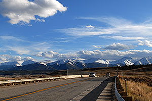 road from Leadville to Buena Vista