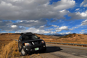 Xterra along the road from Leadville to Buena Vista