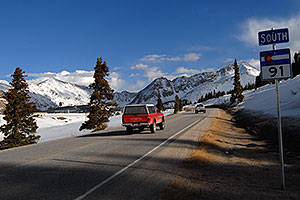 North side of Fremont Pass, on I-91 leading to Leadville