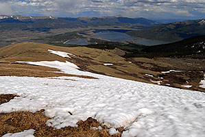 view east towards Twin Lakes and Mt Elbert Forebay … images along South Mt Elbert Trail