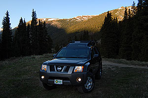 Xterra in the morning, 10miles east of Leadville