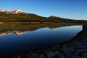 Reflection of Mt Elbert in Mt Elbert Forebay