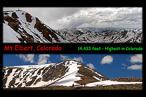 Hikers on Mt Elbert, Colorado