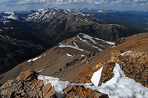 view of Mt Massive from near summit of Mt Elbert