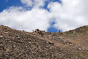 Hikers along La Plata Peak trail