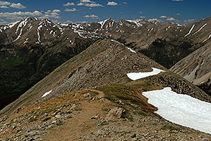 Mt Elbert and other peaks - View along La Plata Peak trail