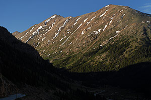 Mount Champion and Independence Pass Road from Twin Lakes side