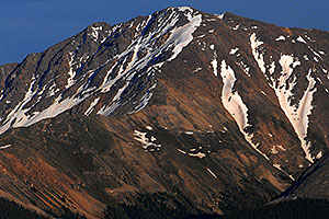 Closeup view of La Plata Peak from Highway 82