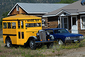 Old School Bus in Buena Vista
