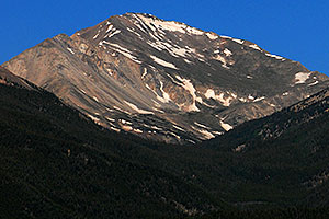 Closeup view of Mt Yale from I-24 near Buena Vista