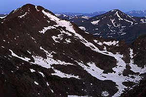 Mt Bierstadt (14,060 ft) on the left … view from Mt Evans