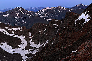 The Sawtooth on the right of Mt Bierstadt (out of picture on the left) … view from Mt Evans