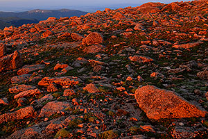 sunrise colors at Mt Evans
