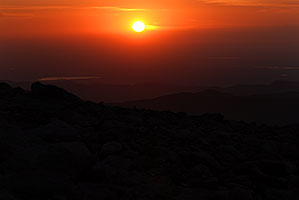 sunrise at Mt Evans
