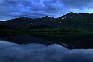 Photographer looking at Mt Bierstadt … evening reflections