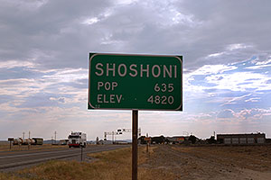 Shoshoni, Wyoming - Population 635, Elevation 4,820 ft