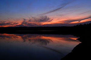 Sunset at Yellowstone Lake