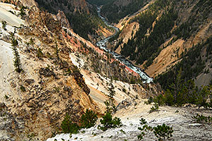 View West from Inspiration Point at Yellowstone River