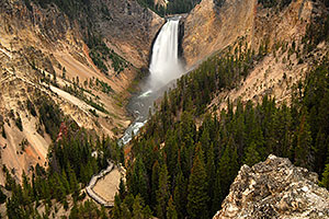 View of Lower Falls - height 308 ft (by Canyon Village)