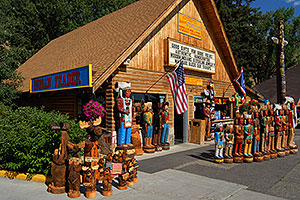 Carved Bears, Moose and Indians in Jackson