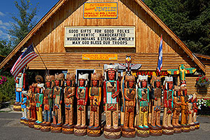 Carved Indians in Jackson
